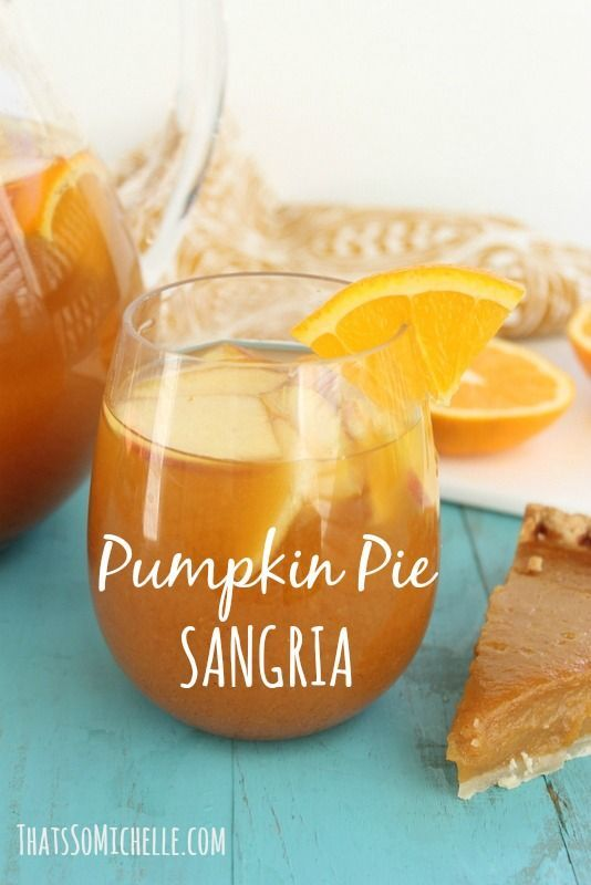 Pumpkin Pie Sangria!