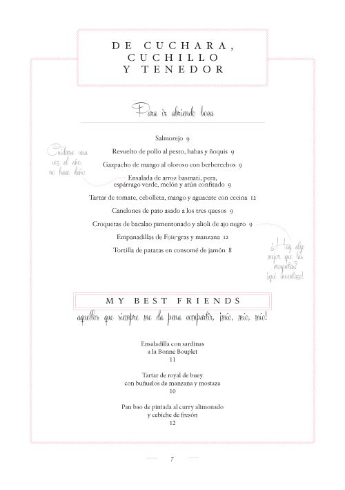 Gigi Menu by Ele&Uve