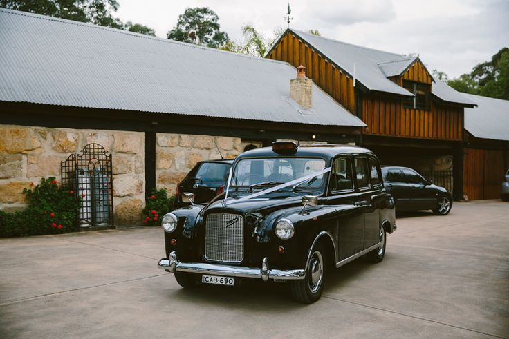 Old London Taxi. Hunter Valley Exclusive Vintage Wedding Cars. Image: Cavanagh Photography http://cavanaghphotography.com.au