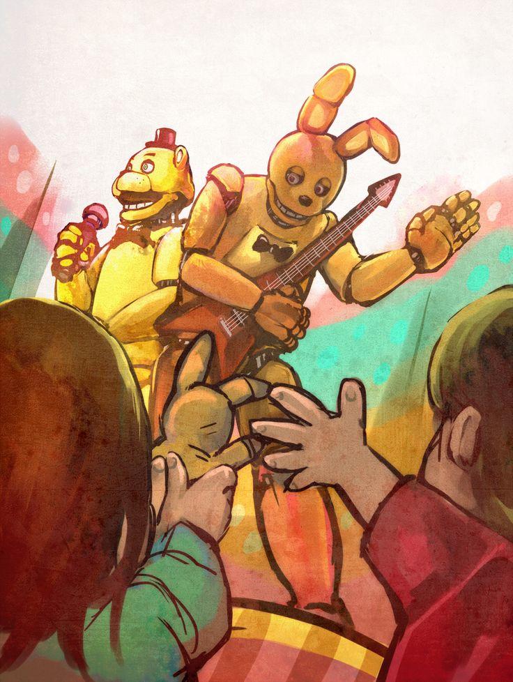 Golden Freddy and Springtrap (Golden Bonnie)
