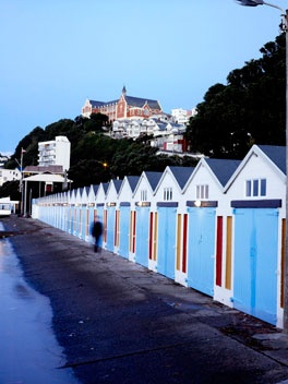 Boat Sheds, Oriental Parade