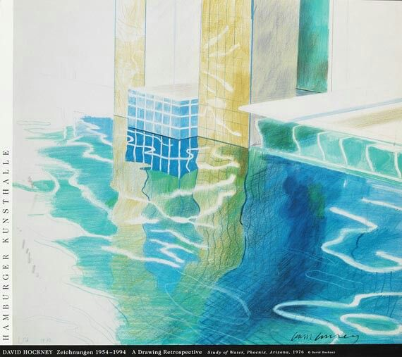 "David Hockney ""Plakat, Study Of Water"""