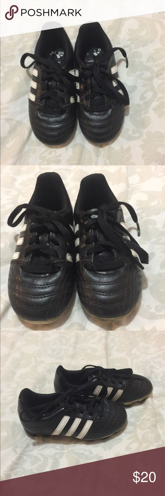 Adidas toddler soccer cleats. In good condition. True to size. No stench smell. Black and white toddler cleats. Prices are negotiable make me a offer. Adidas Shoes Sneakers