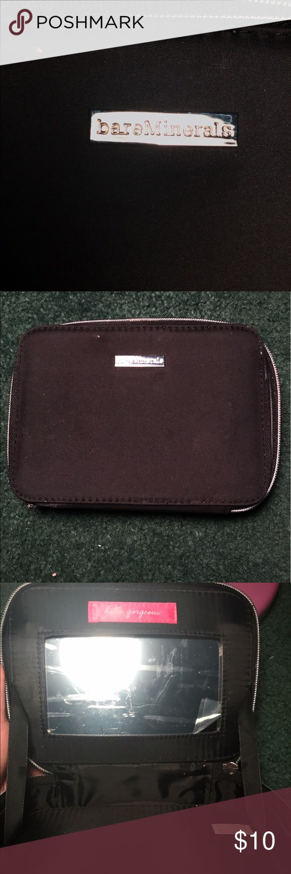 BareMinerals Makeup Bag This is from a dumpster dive. It looks nice. It is black. Still has wrapping on the mirror on it. I have like 5 makeup bags that's why I'm not keeping it. Ready to ship. Only serious buyers please. bareMinerals Makeup