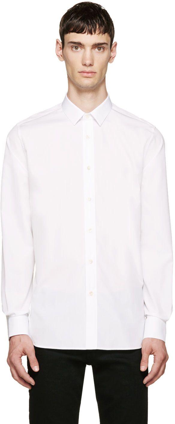 Saint Laurent - White Classic Poplin Shirt