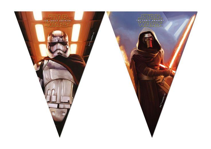 Unique Party - Striscione con 7 bandierine, 2,3 m, motivo Star Wars: Amazon.it: Giochi e giocattoli