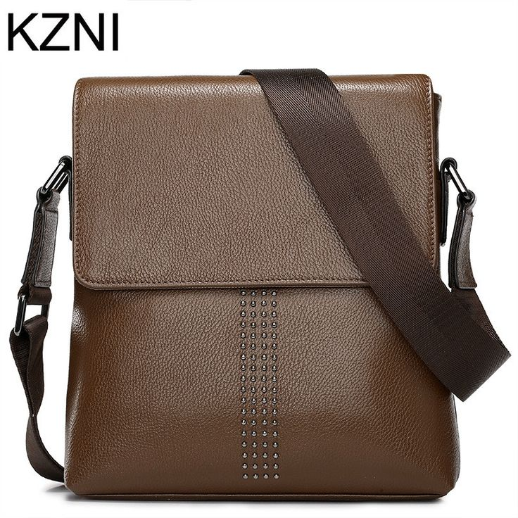 52.52$  Watch more here  - KZNI bags handbags Men famous brands genuine leather vintage bags Men bolsas femininas bolsas de marcas famosas L031506