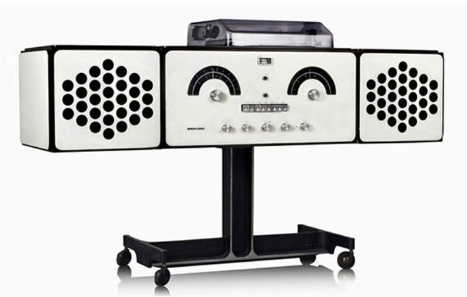 "The ""stereo radiophonograph"" Brionvega RR126 was designed in 1965 by the famous Milan-born designer and architect Achille Castiglioni."