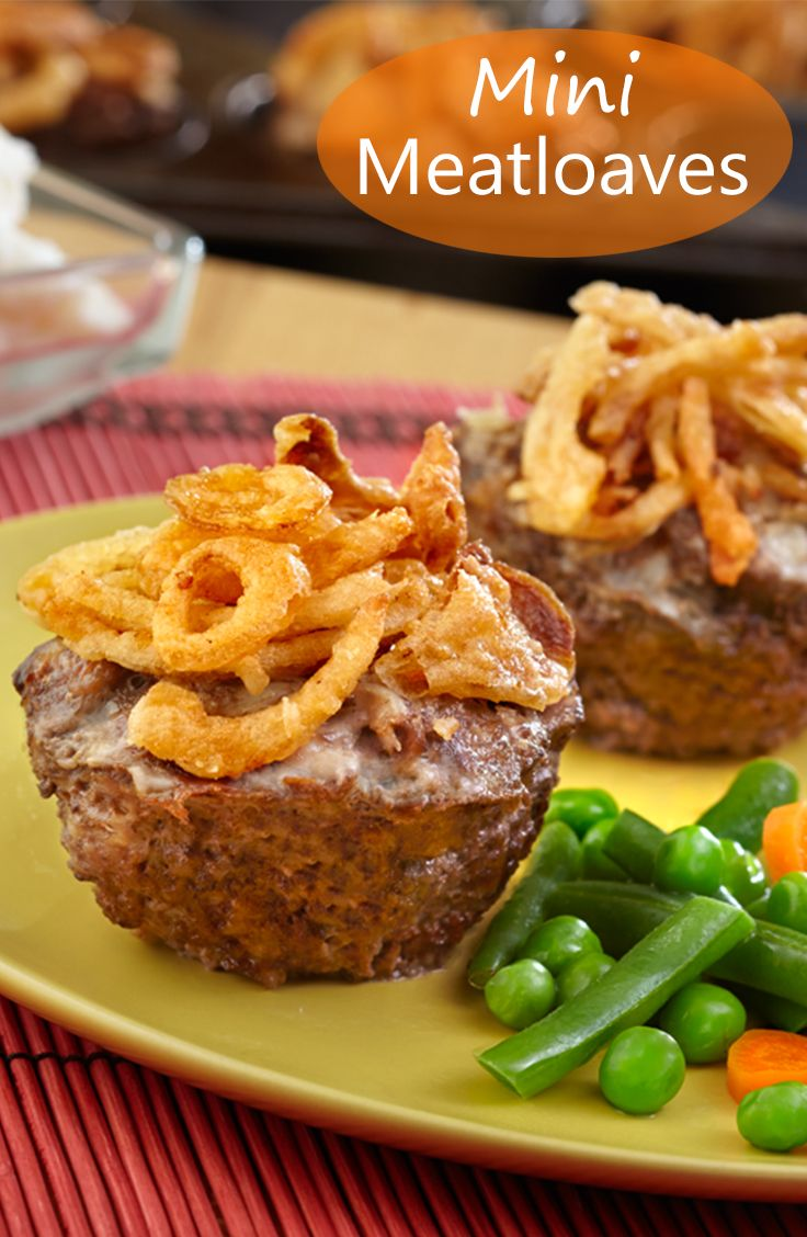 Mini Meatloaves Recipe - You won't be able to resist these mini ...