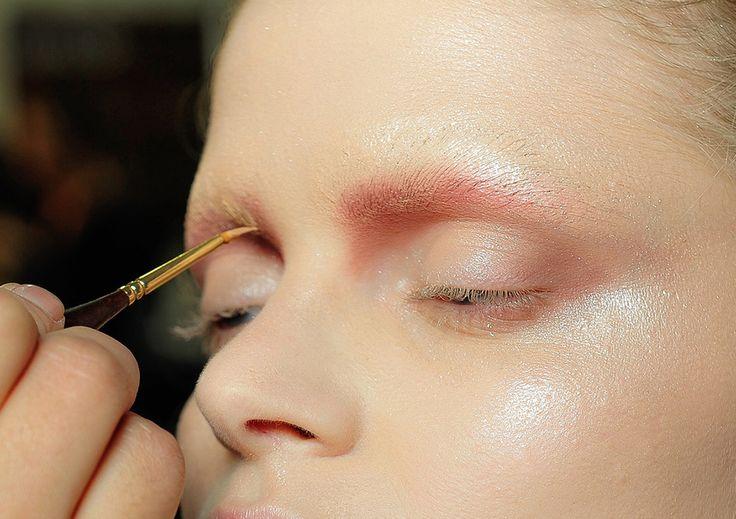 blush and white eye make up