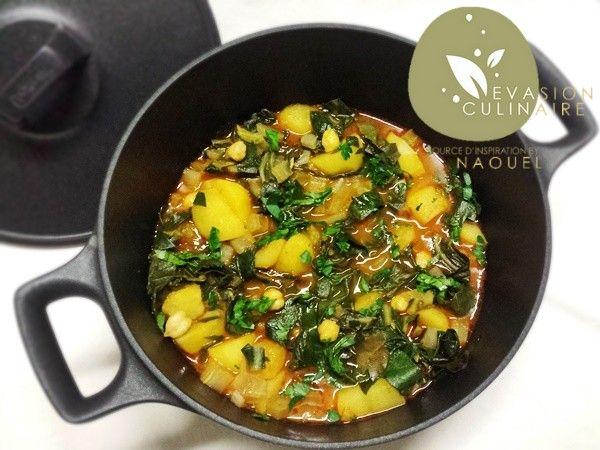 Recette de blettes et pommes de terre en sauce - Evasion Culinaire