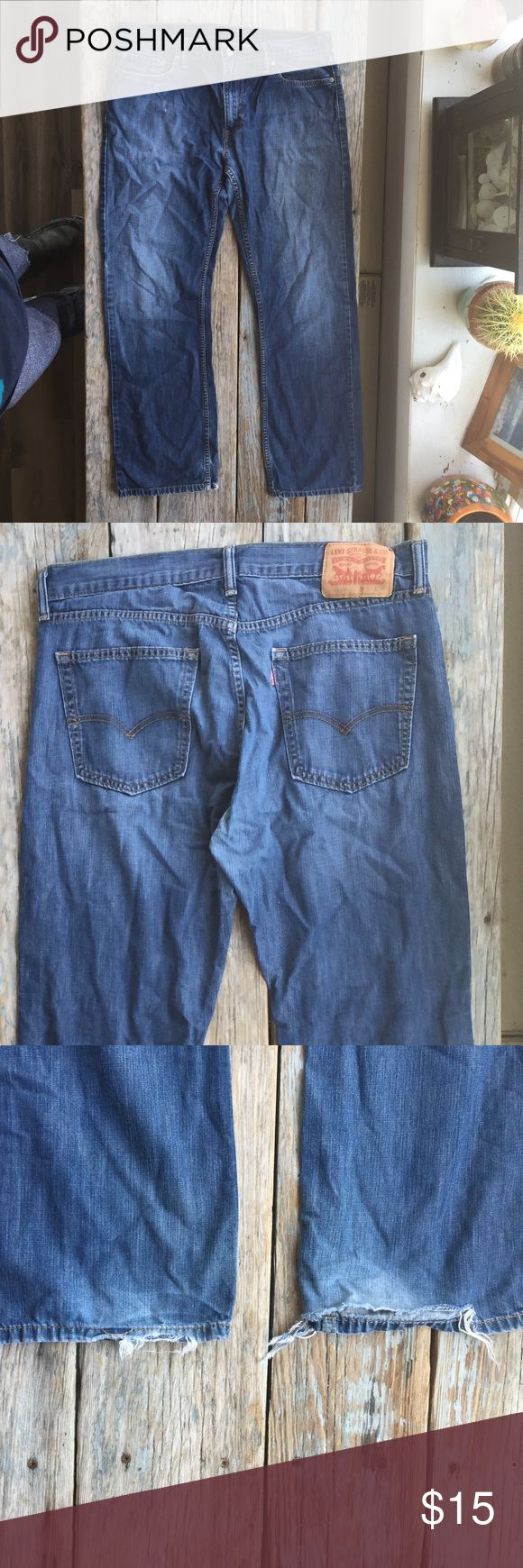 Levi's 514 Jeans These are in great condition except for the hem. Some people actually like this look. I like them over boots. Levi's Jeans Relaxed