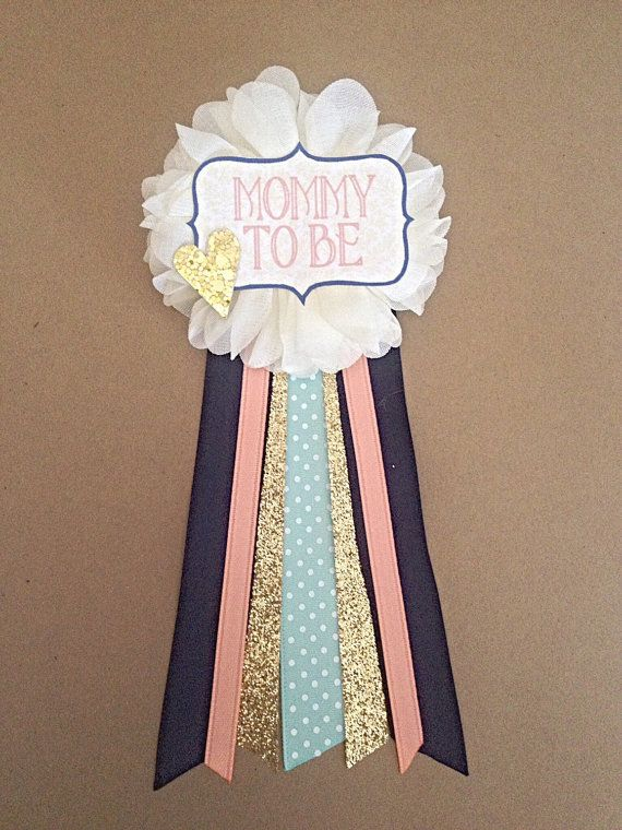 Etsy listing at https://www.etsy.com/listing/228185081/navy-gold-coral-mint-baby-shower-mommy