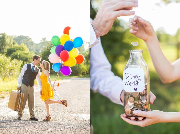 Disney Pixar Up Themed Engagement Photos    Athens GA Wedding Photographer   Claire Diana Photography