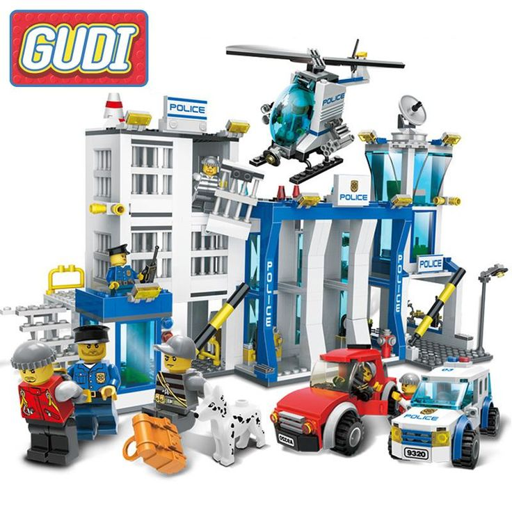 GUDI Police Administration City Police Series DIY Model Building Blocks Sets Bricks Assembled Toys For Children Birthday Gifts #Affiliate