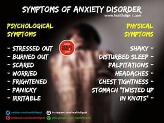Symptoms of Anxiety Disorder  Mental health is an issue that needs to end. End it at http://www.fuzeus.com