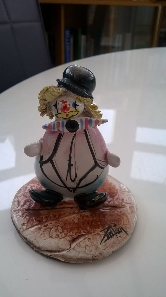 Vintage Lino Zampiva Clown Made In Italy Signed Lino