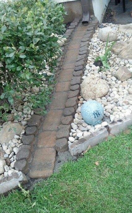 The 25 best gutter drainage ideas on pinterest down for Landscape channel drain
