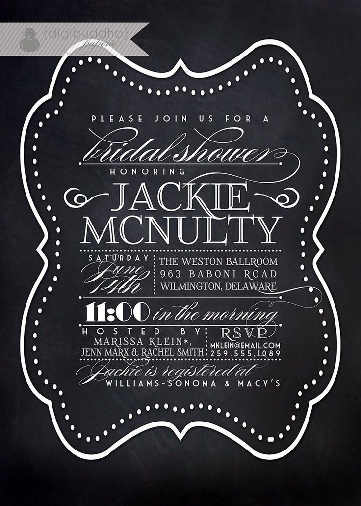 1000 images about Bridal Shower – Black and White Wedding Shower Invitations
