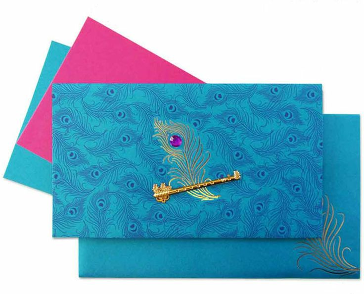 Indian Wedding Invitation Design Online: Www.regalcards.com Now Showcasing This Magnificent Peacock