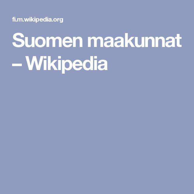 Suomen maakunnat – Wikipedia
