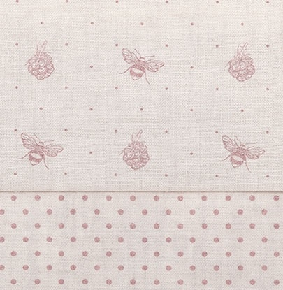 Bee and Blackberry Dusty Pink Linen Dusty Pink Dots by Peony & Sage