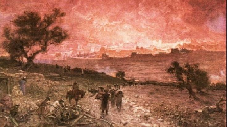 Destruction of jerusalem by nebuzaradan biblical art