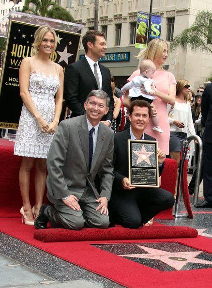 Carrie Underwood and Simon Fuller - Simon Fuller Hollywood Walk Of Fame Ceremony