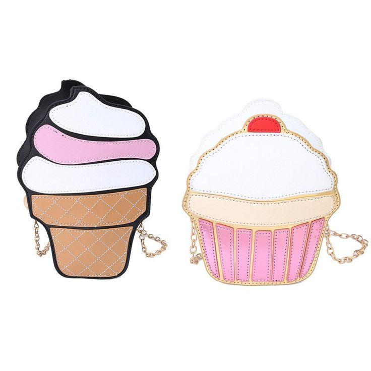 Ice Cream Pattern Small Crossbody Bag