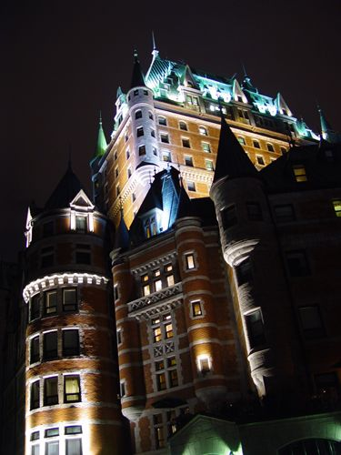 Chateau Frontenac castle in Quebec City, Canada