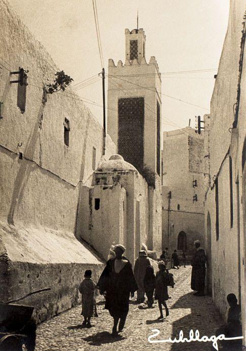 Calle de Bab Saida, Tetuán.1945