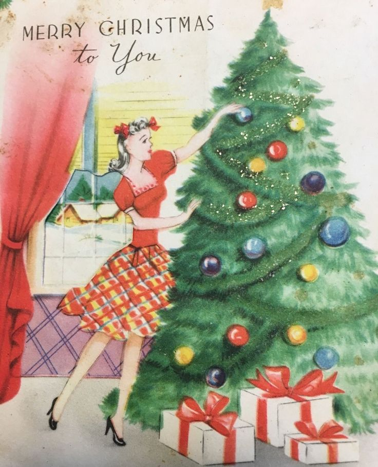506 best 1940's Christmas images on Pinterest | Vintage christmas ...