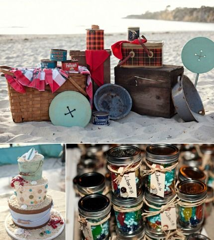 {Wedding Theme} Vintage Beach Camping · DIY Weddings | CraftGossip.com