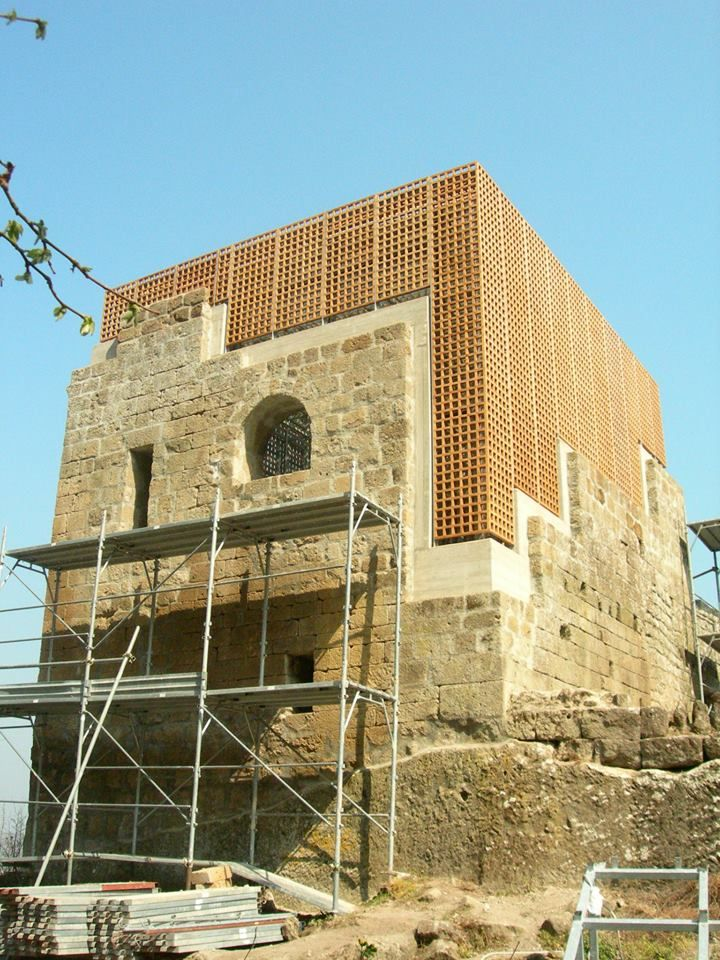Restoration of a medieval tower, Soriano nel Cimino, Italy (2008-2012) _ Architect: Carlo Carreras.