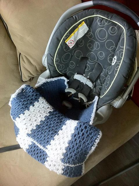 Ravelry: 1/2 Car Seat Snuggie pattern by Jan Bell