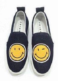 Dark Denim Smiley Face Slip-On