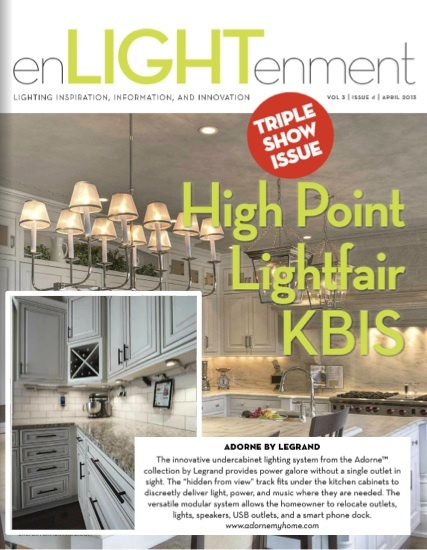 From the April issue of EnLIGHTenment Magazine   our adorne Under cabinet  Lighting System43 best Legrand  Adorne images on Pinterest   Wall plates  Custom  . Adorne Under Cabinet Lighting System. Home Design Ideas