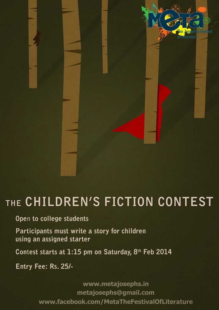 Children's fiction contest,  Saturday, 8th Feb,  1:15