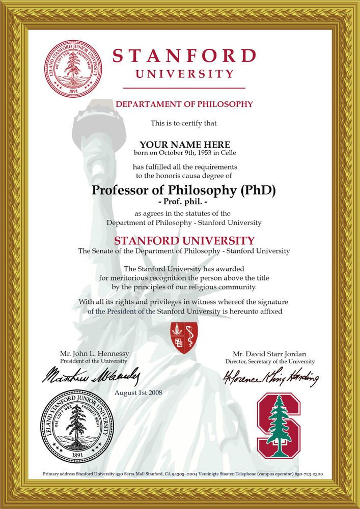 ♛novelty A4 University Degree Certificate The Real Deal