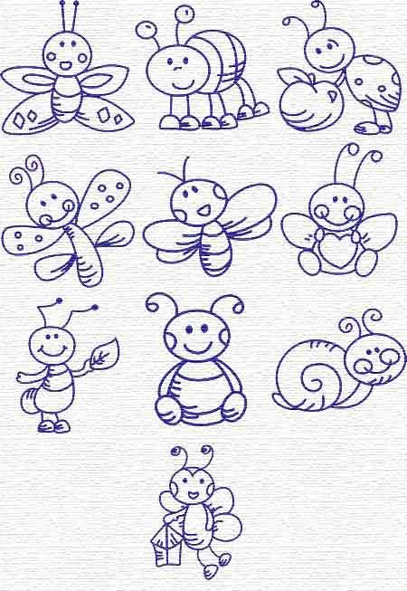 cute bug Doodles
