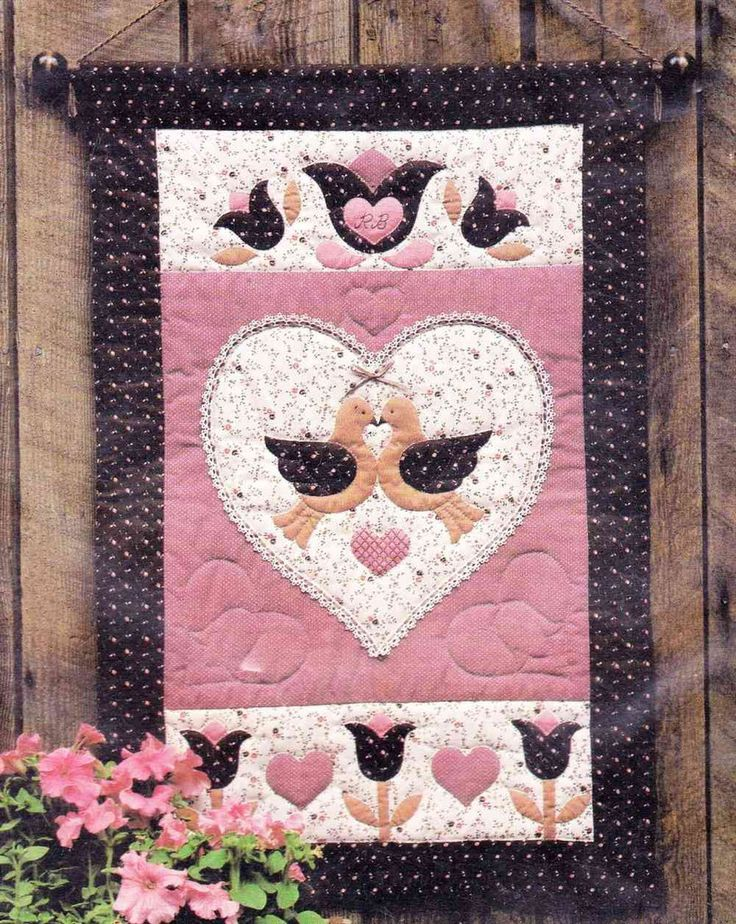 Folkhearts And Flowers Wall Hanging Patterns And