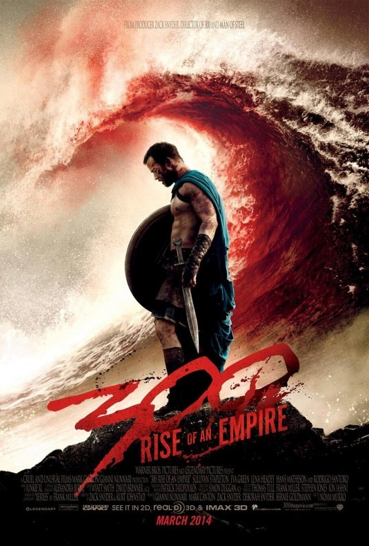 We won't be seeing this for some time, but this new 300 sequel, starring LENA HEADEY as the widow of GERARD BUTLER'S character, LEONIDIAS, as QUEEN GORGO (The Queen of Sparta) going up against EVA GREEN, who plays a lieutenant of the army led by Persian 'God-King' Xerxes (RODRIGO SANTORO) looks impressive.  DAVID WENHAM is back as DILIOS, and SULLIVAN STAPLETON (STRIKE BACK, GANGSTER SQUAD) is an Athenian leader seeking to unite all Greeks.  300: RISE OF AN EMPIRE launches MARCH 2014...;)