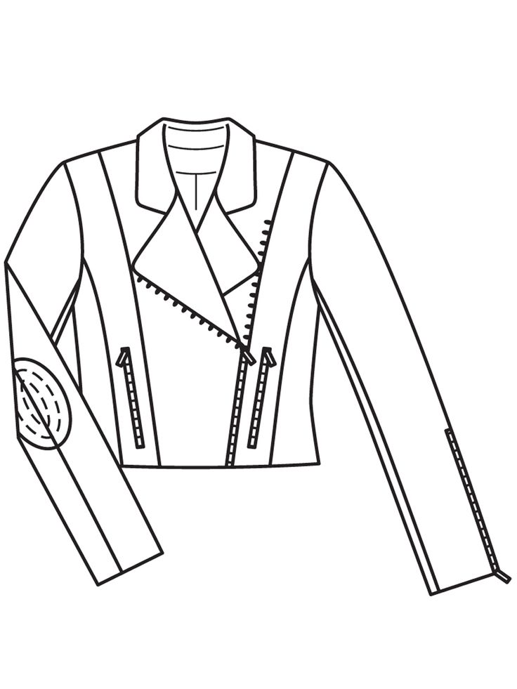 Kurtka wykonana z prawdziwego zamszu - numer wzorca 113 B Journal 1/2017 Burda - wzory na kurtki Burdastyle.ru
