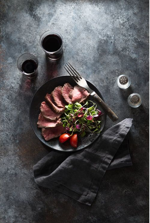 Nicole Branan | Food Photography | Food Photographer | Food Styling | Steak and Salad