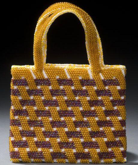 It looks 3-D!!!! Beaded Tapestry Crochet bag From Crochet Master Class.