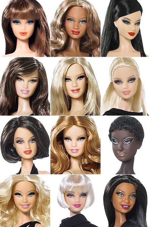 """O próximo lançamento bacana da Mattel é Barbie Basics, uma linha de 12 bonecas em seus """"little black dresses"""". As bonecas tem rostinhos e cabelos absolutamente fantásticos!"""