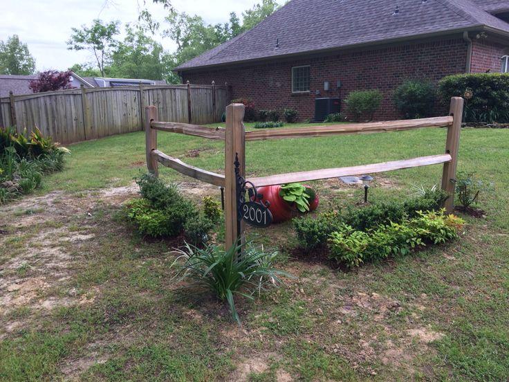Accent Corner Split Rail Fence Gardening Fence