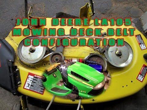 John Deere Lawn Tractor LA105 Mowing Deck Belt Configuration