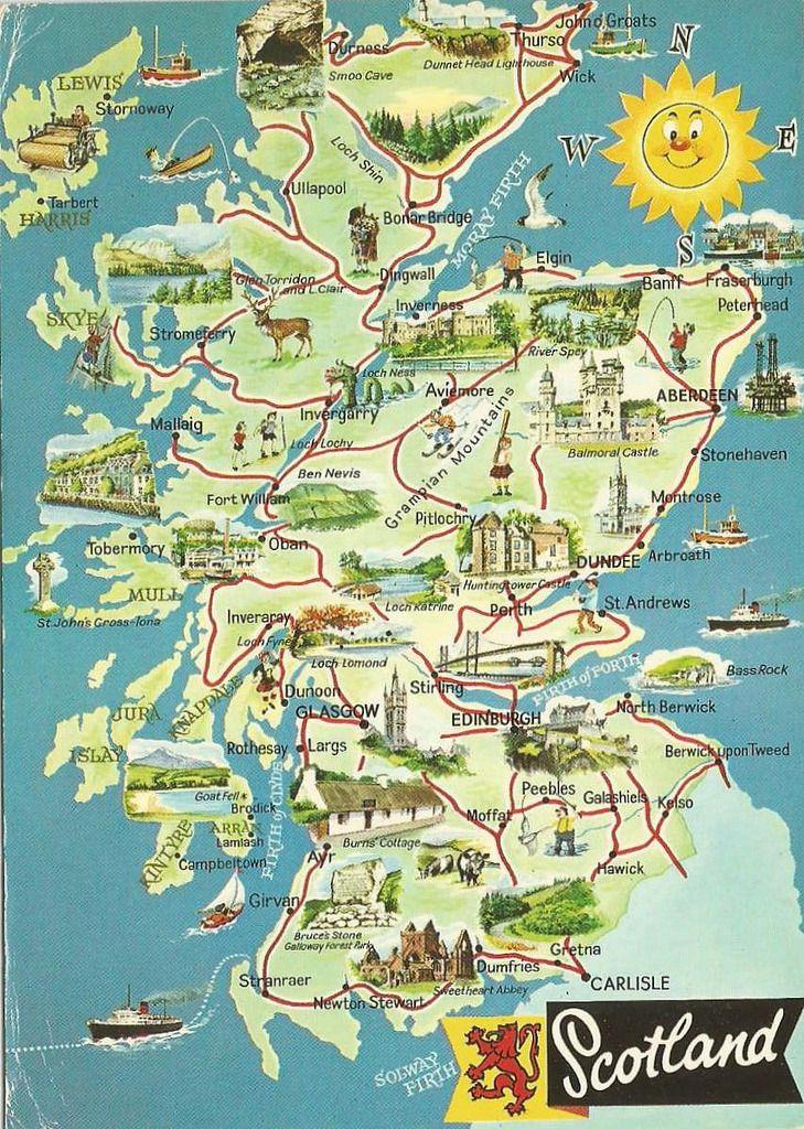 Scotland Illustrated Scotland Map Scotland Vacation Scotland