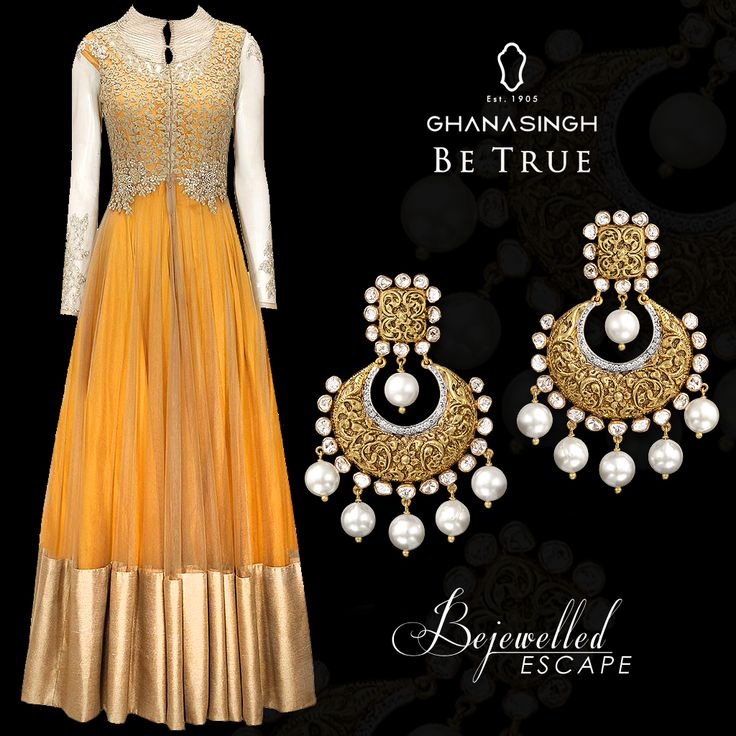 Fusion gowns paired up with Ghanasingh's Bejewelled Escape Collection are a very contemporary yet traditional option for a Sangeet function.  Take clue from the #StyleDiva Kangana Ranaut